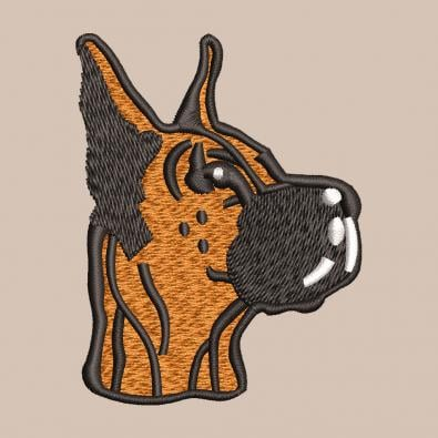 Free Dog Machine Embroidery Design