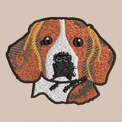 Free Cute Face Dog Embroidery Design