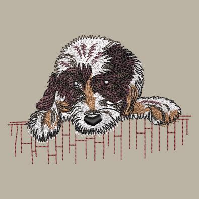 Dog Digitized Embroidery Design - Cre8iveSkill