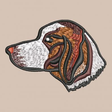 Free Embroidery Design:  Beagle Head Dog