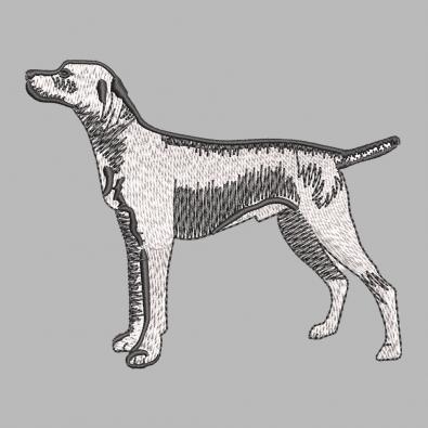 Street Dog Embroidery Design