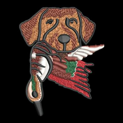 Embroidery Design Hunting Dog