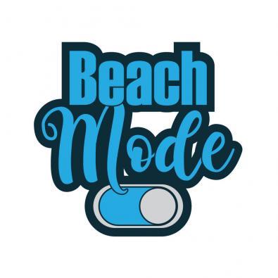 Beach Mode On Vector Art Design - Cre8iveSkill