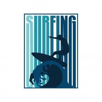 Surfing Vector Art Design