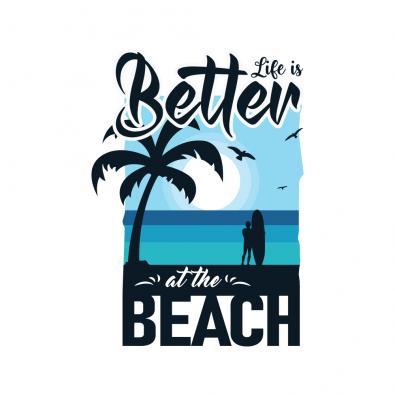 Beach Life Vector Graphic Design - Cre8iveSkill