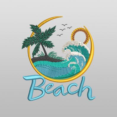 Beach Waves Embroidery Design - Cre8iveSkill