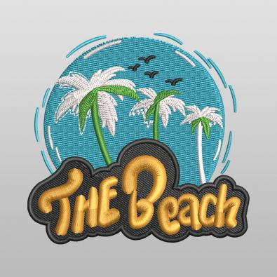 The Beach Machine Embroidery Design - Cre8iveSkill