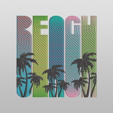 Beach Embroidery Design - Cre8iveSkill