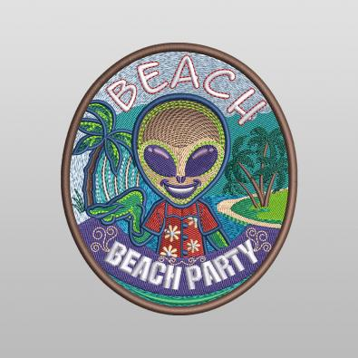 Beach Party Machine Embroidery Design - Cre8iveSkill