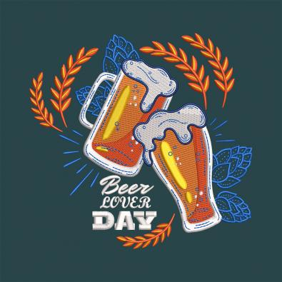 Beer Lover Day  Machine Embroidery Design-Cre8iveskill