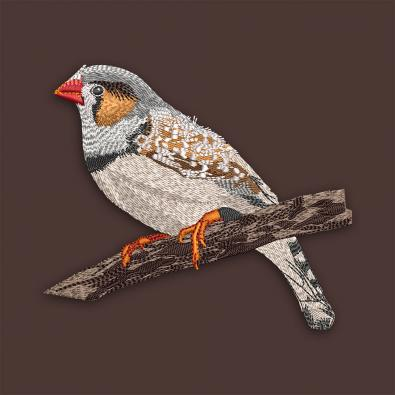 Beautiful Sparrow Digitized Embroidery Design - Cre8iveSkill