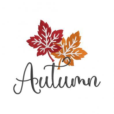 Autumn Machine Embroidery Design - Cre8iveSkill