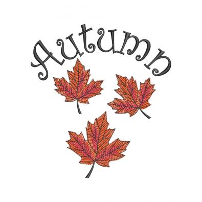 Autumn Falling leaves Digitized Embroidery Design - Cre8iveSkill