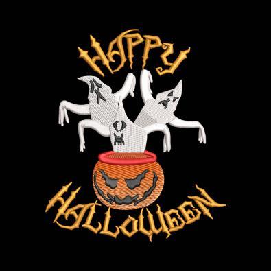 Halloween Boo Ghosts Pumpkin Embroidery design