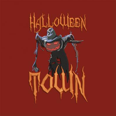 Halloween Town Embroidery Design-Cre8iveSkill