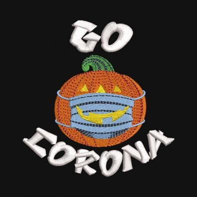 Go Corona Halloween Pumpkin With Mask