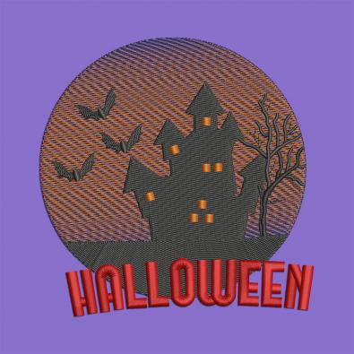 Scary Haunted House Embroidery Design | Cre8iveSkill