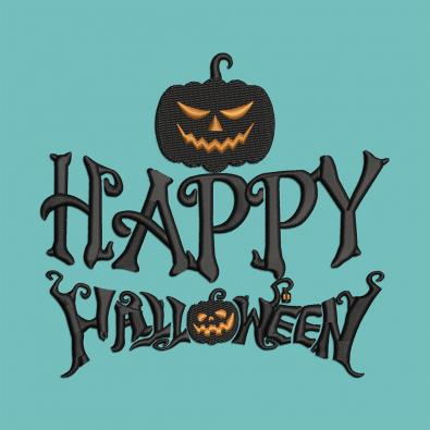 Creepy Halloween Pumpkin Embroidery Design | Cre8iveSkill