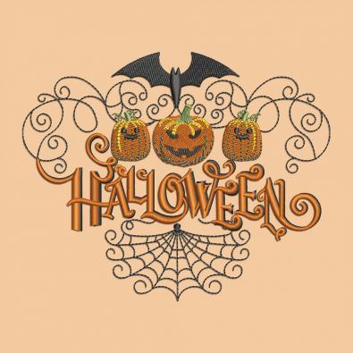 Halloween Pumpkin Faces Embroidery Design   Cre8iveSkill
