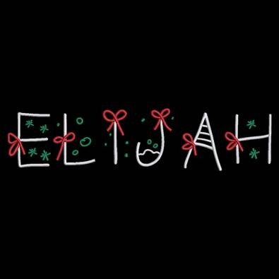 Elijah Christmas Ribbon