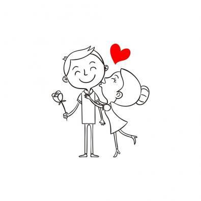 Lineart Couple Love2