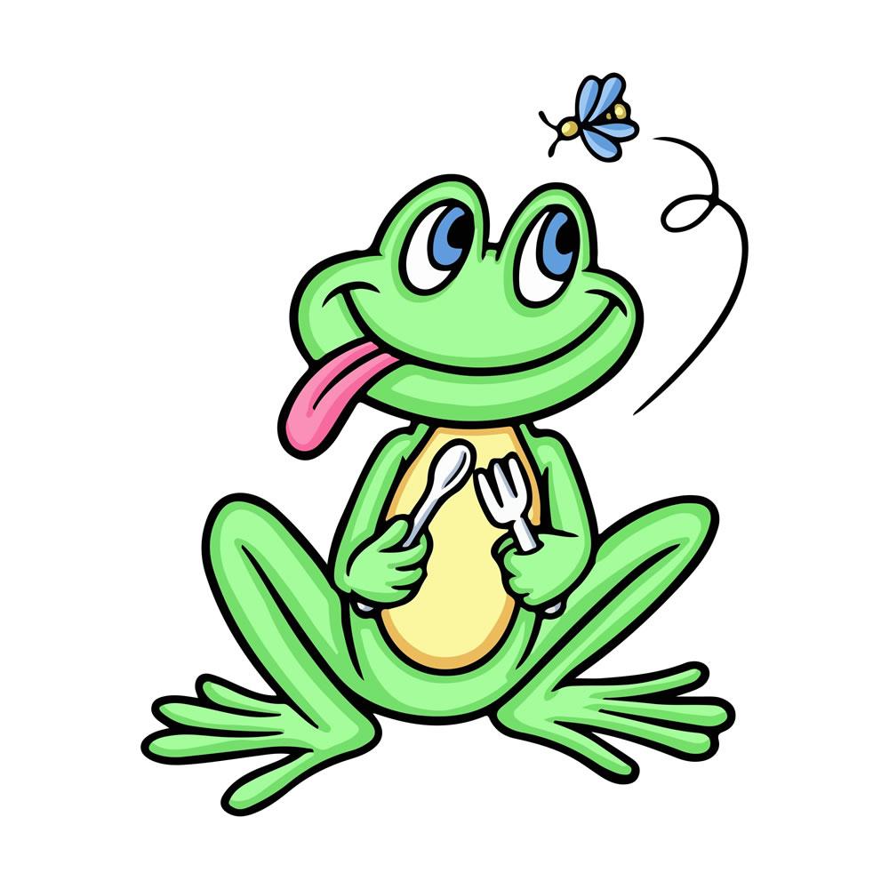 Frog Eating Bite