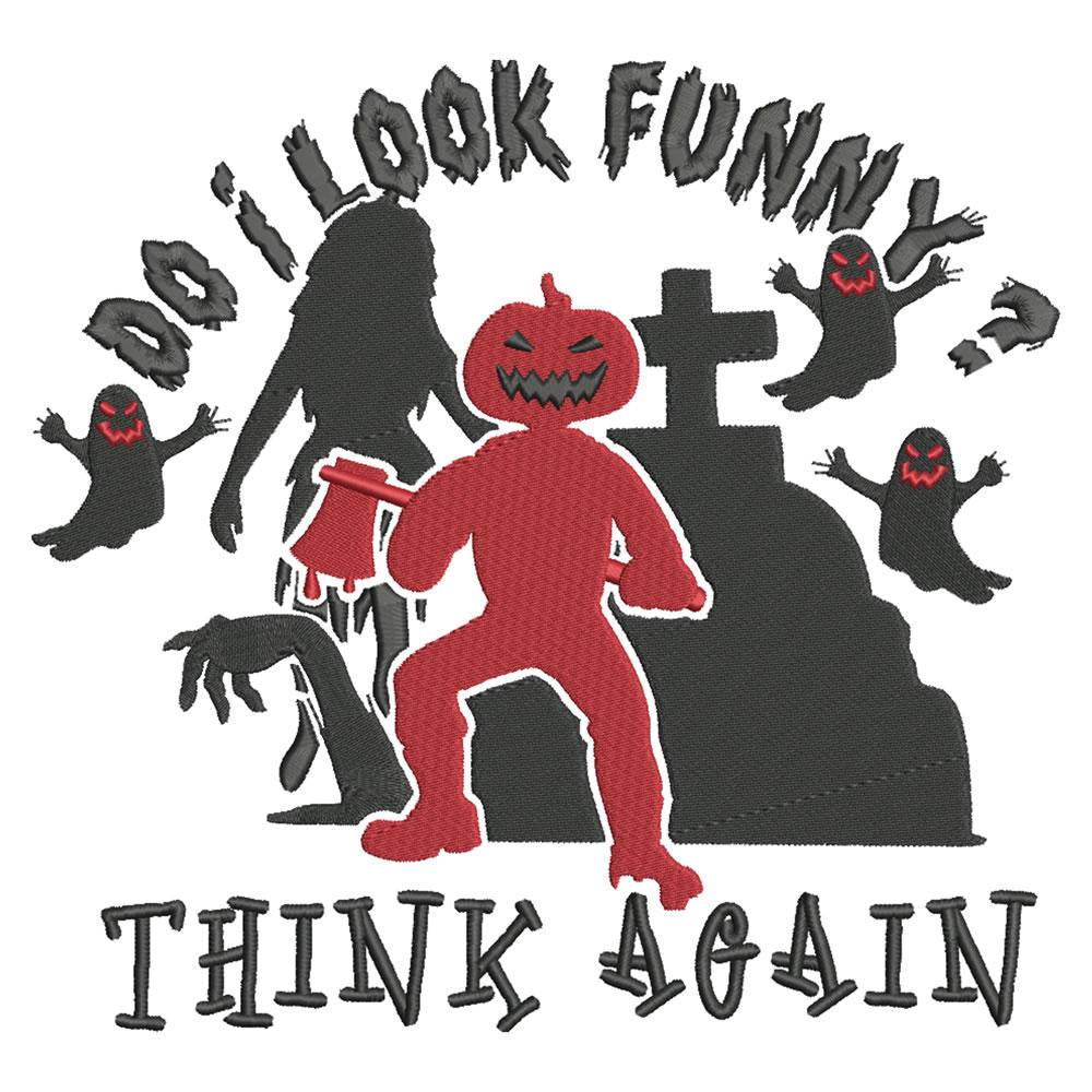 Funny Creepy Pumpkin Man