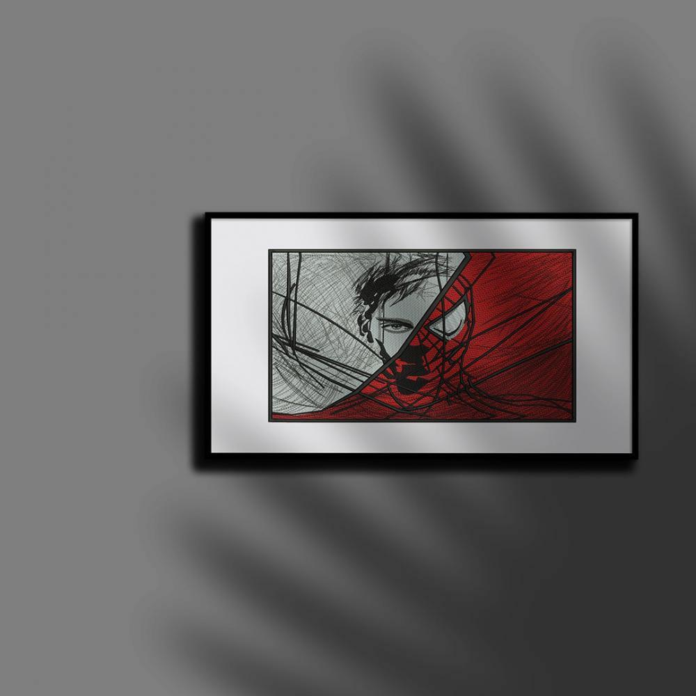 Digitized Spider mock up on frame