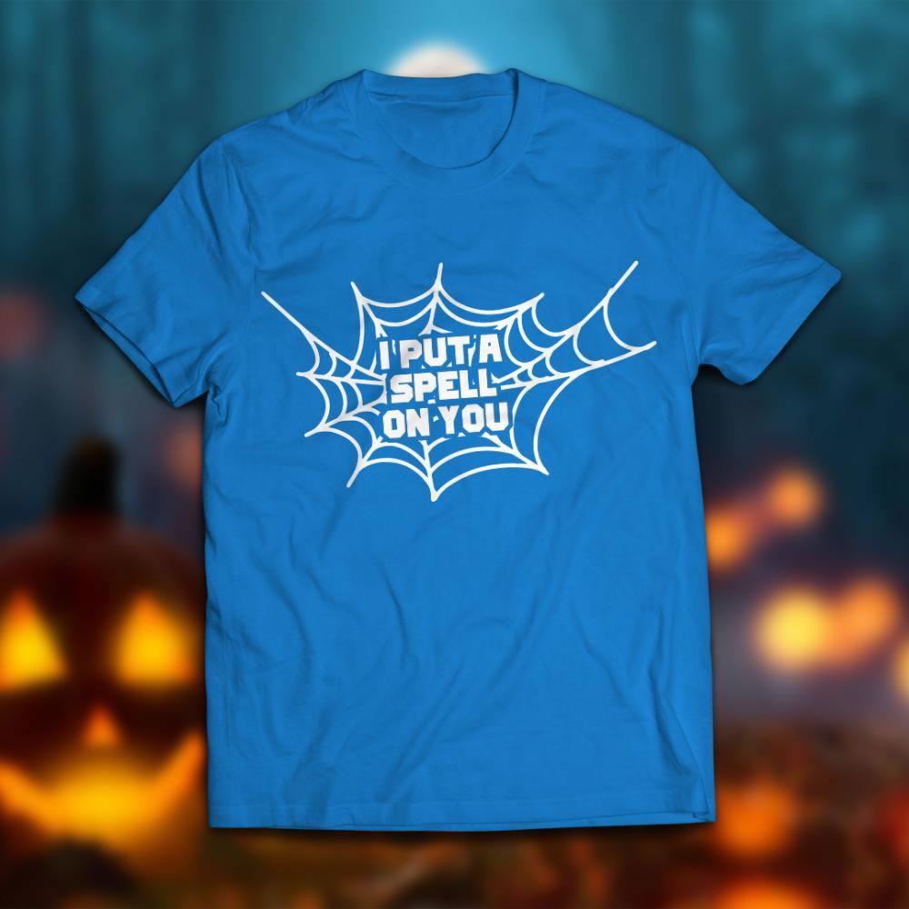 Spell vector art design T-shirt mock up