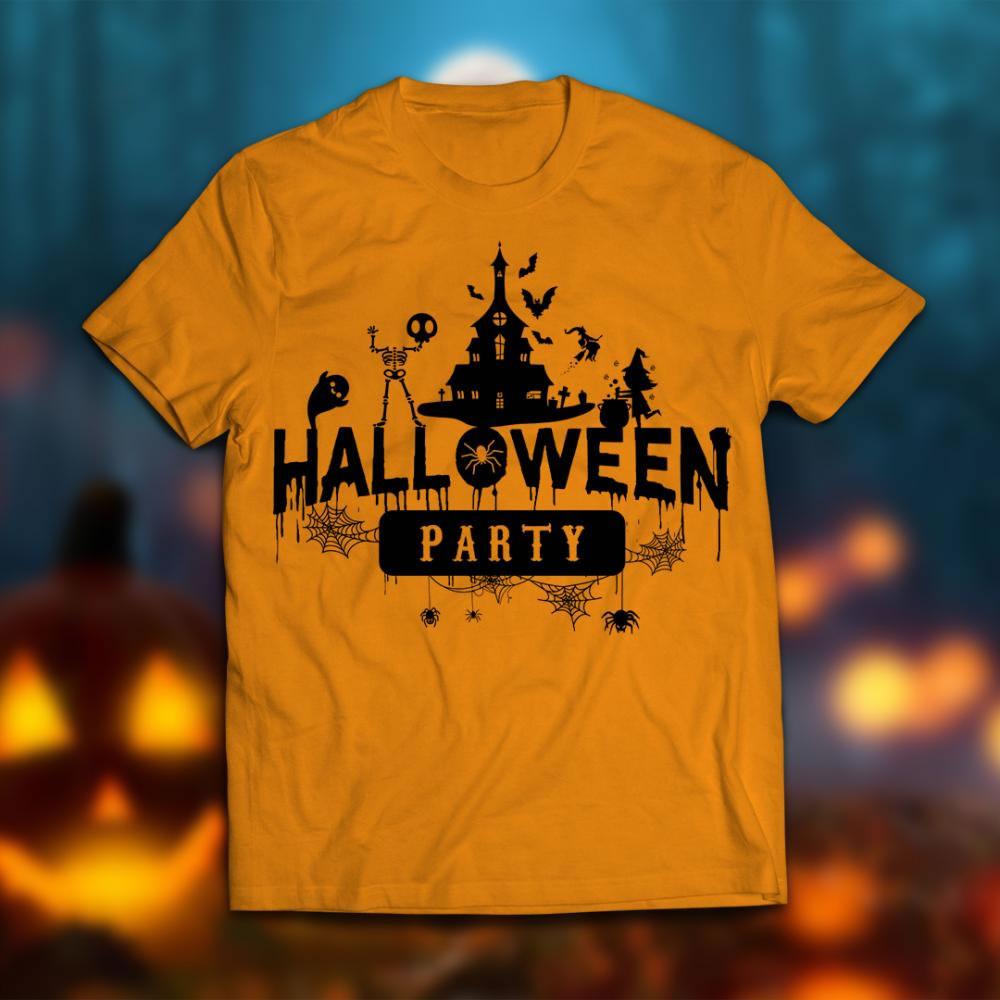 Halloween Party Vector T-shirt Mock Up