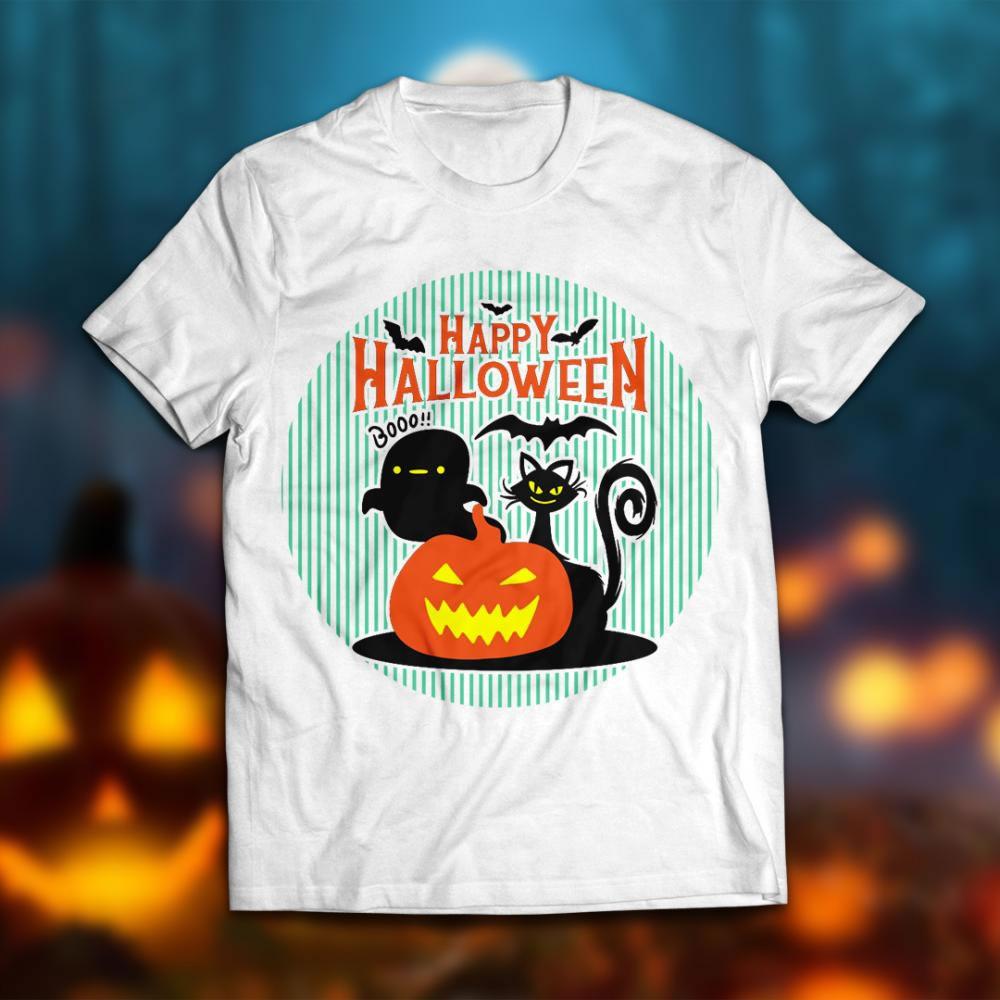 Happy Scary Halloween Vector T-shirt Mock Up