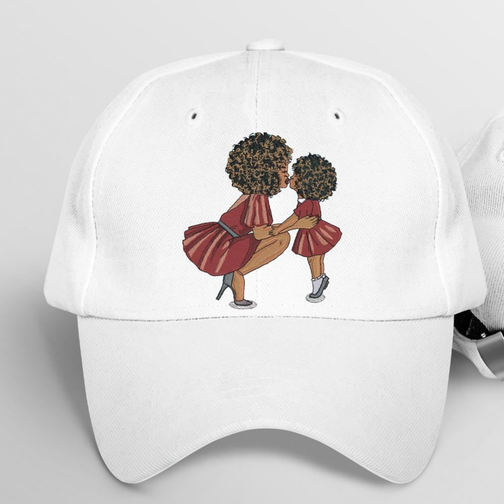 Woman and Child Embroidery Design