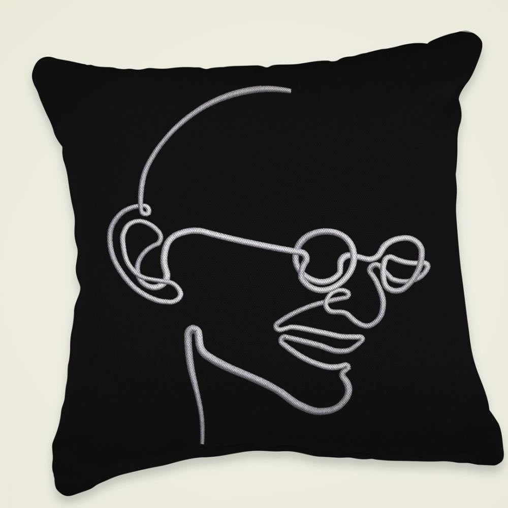 Non-Violence Epitome Embroidery cushion Mock Up