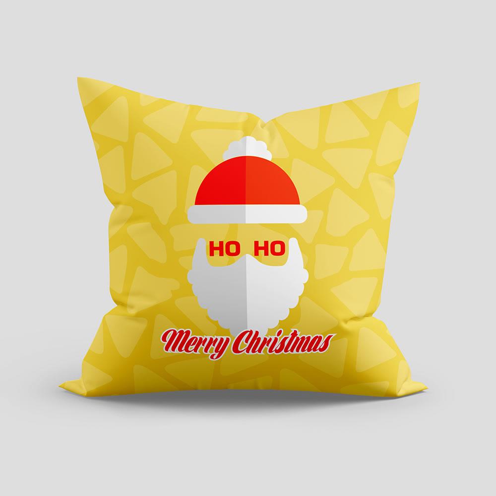 Santa claus vector cushion mock up