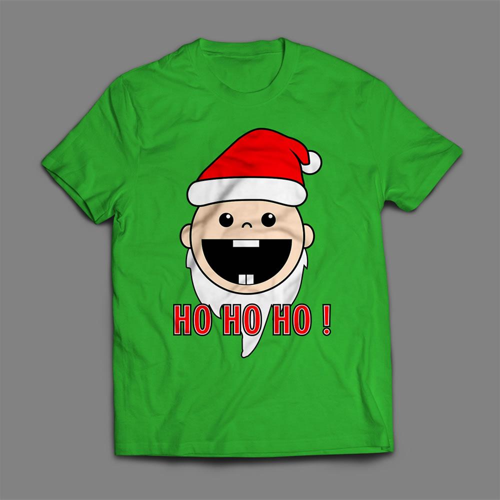 Baby santa claus vector t-shirt mock up