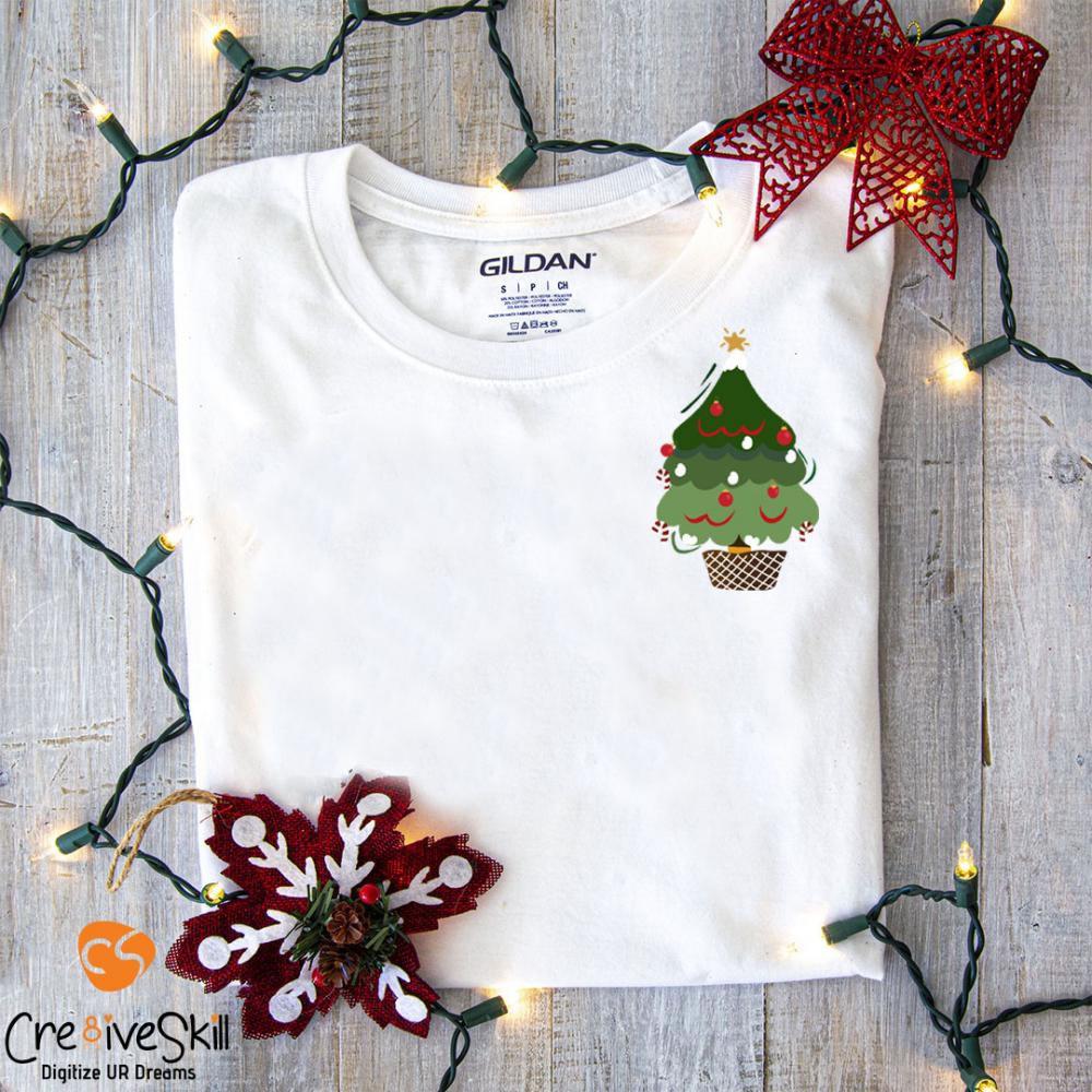 Vector Christmas Tree T-shirt Mock Up