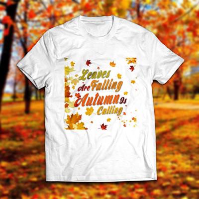Autumn Vector Art T-shirt Mock Up
