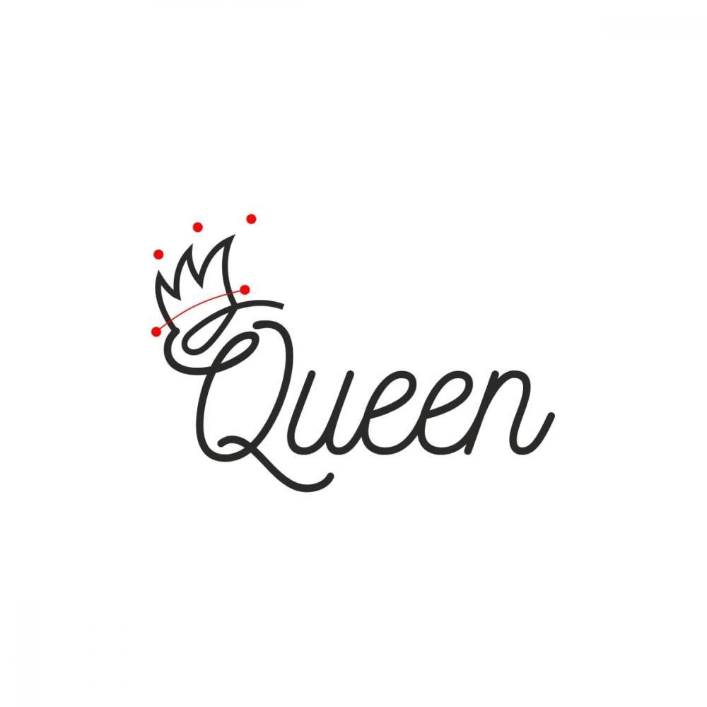 Queen Vector Line Art