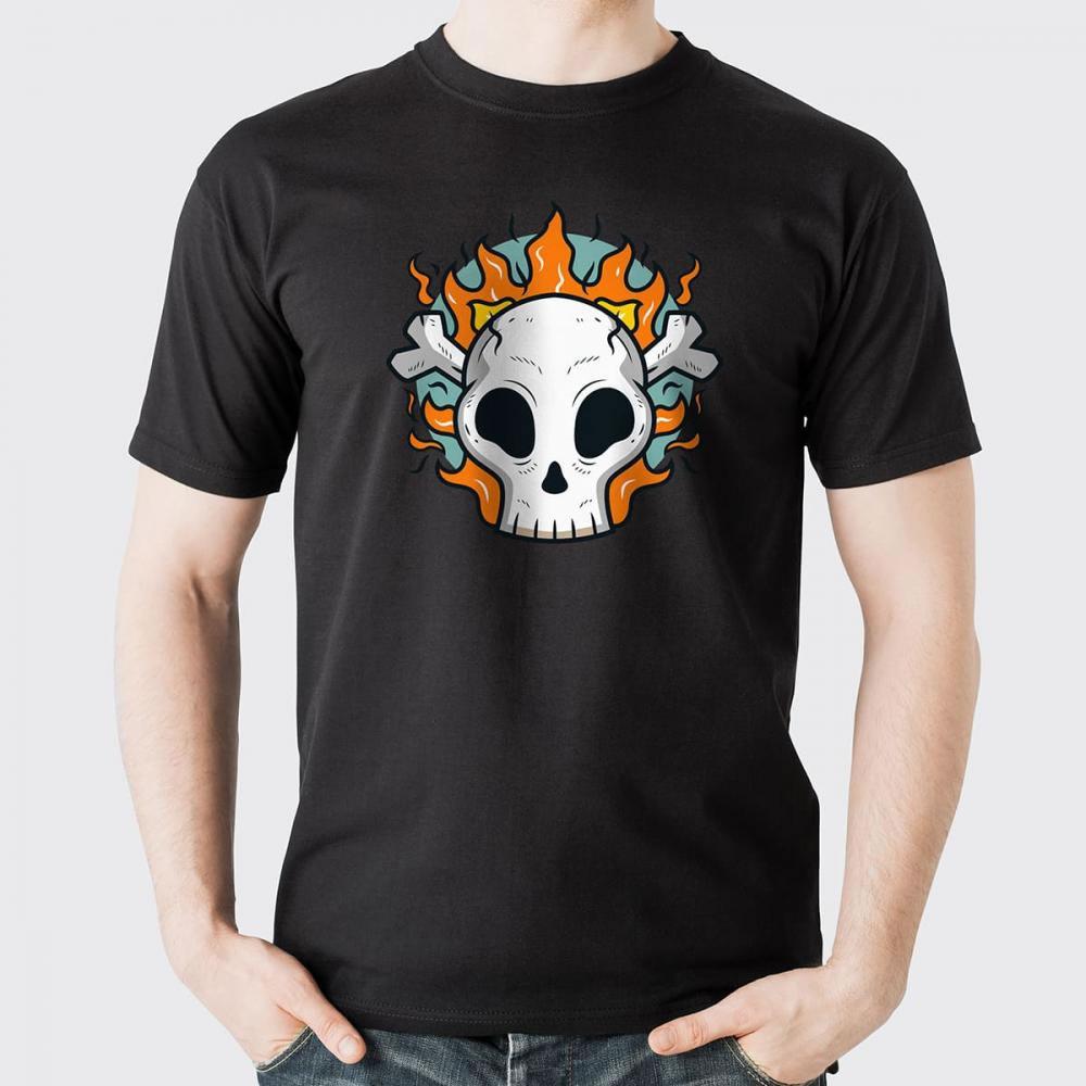 Skull In Fire Vector Art