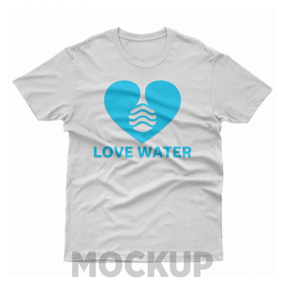 Love Water Vector Mock Up