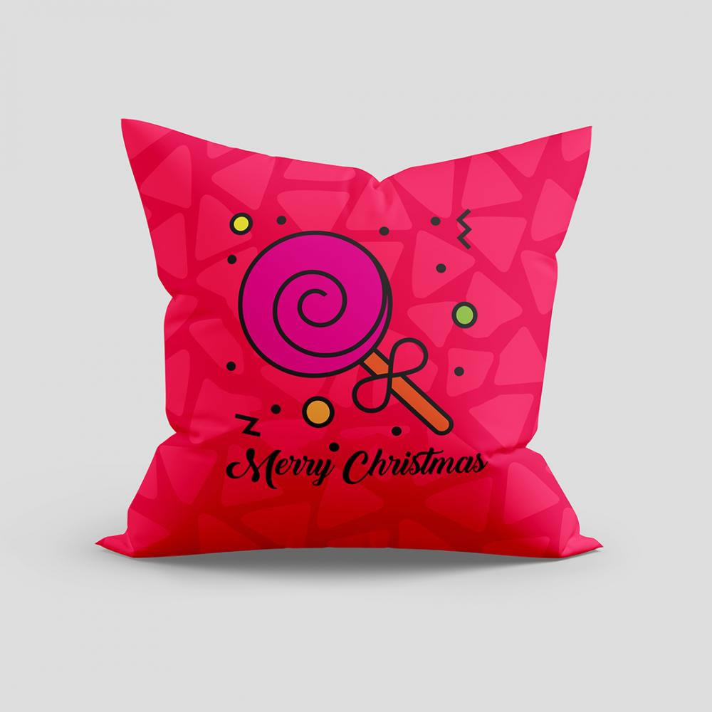 Merry Christmas vector cushion mock up