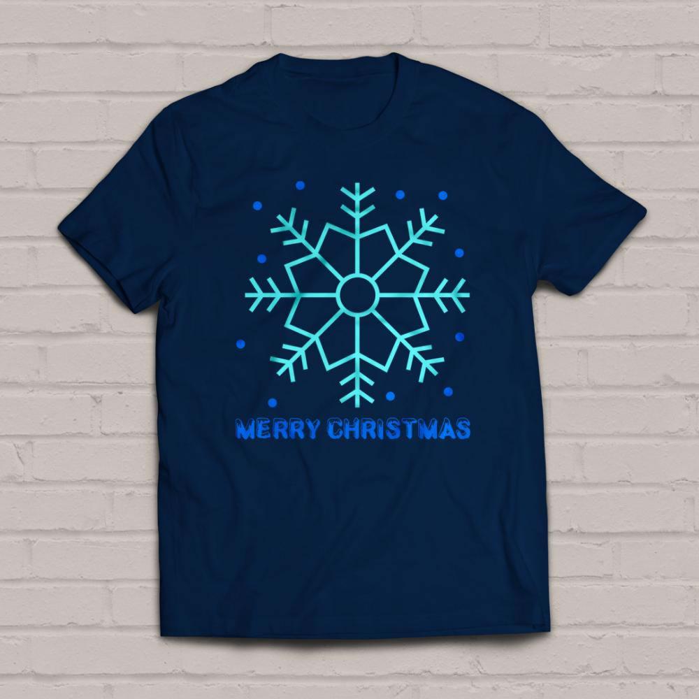 Merry Christmas Snowflakes vector graphics