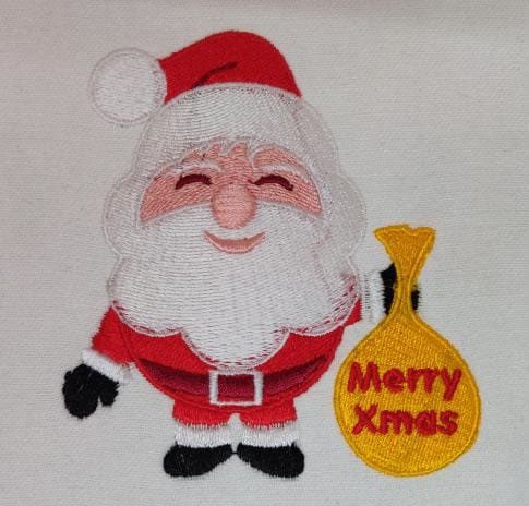 Merry Christmas Santa Digitized  Embroidery Design