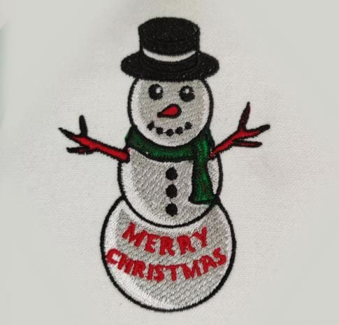 Snowman Embroidery Desing