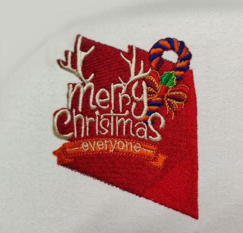 Merry Christmas Digitized  Embroidery Design