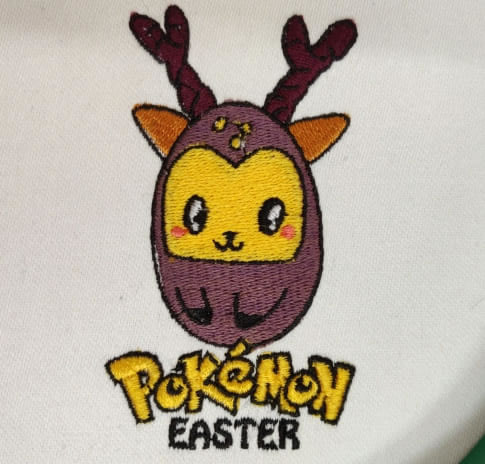 Pokemon Easter Embroidery Design
