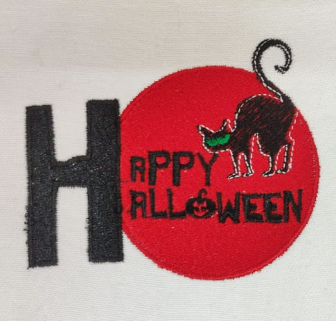 Halloween Embroidery Design