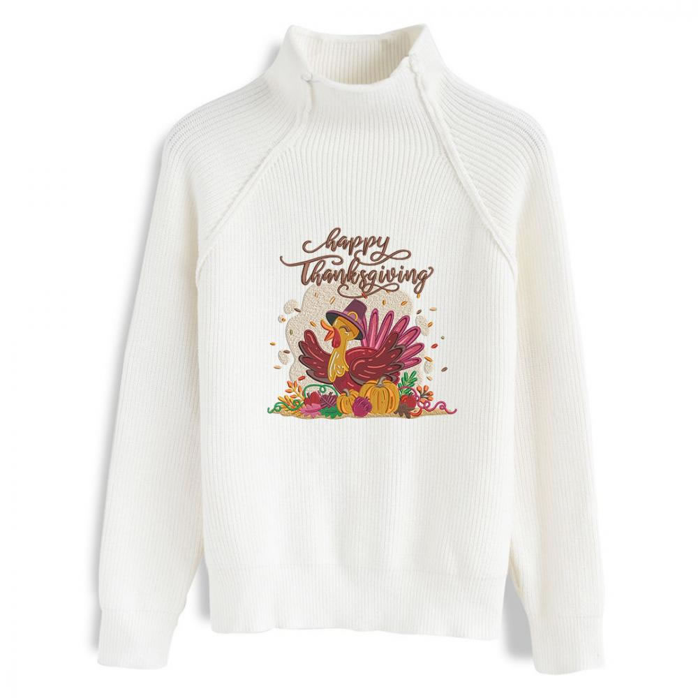 Thanksgiving Embroidery Design