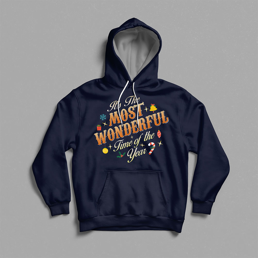 Typography letters art hoodie mock up