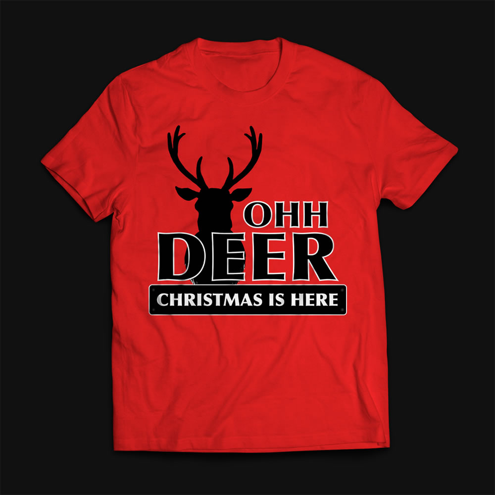 Christmas Raindeer vector t-shirt mock up
